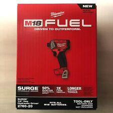 Milwaukee 2760-20 M18 Combustible De Litio Impacto contra subidas de tensión 1/4 Nuevo en Caja Envío 2 días