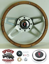 "1964-1966 Tempest LeMans Grand Prix Catalina Bonneville 13 1/2"" WALNUT 4 SPOKE"