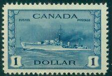 CANADA #262 $1.00 deep blue, og, NH, VF, Scott $100.00