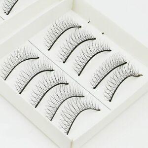 10 Pairs Thin Tenuous Natural False Eyelashes Fake Make up Eye Lashes Lash GLUE