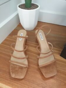 NEW COUNTRY ROAD Tan Sandals [39 40 41 EU], Strappy Summer Heels, Womens RP$189