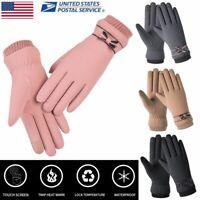 Women Touch Screen Winter Warm Snow Gloves Touck Screen Wind Waterproof Mittens