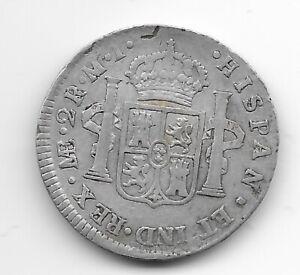 PERU  2 reales 1782  SILVER  KM# 76  VF