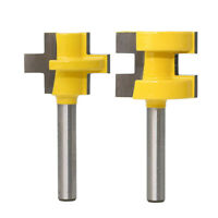 2pc 1/4 Inch Shank Tongue and Groove Router Bit Set for Woodworking Cutter