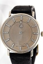 LeCoultre Vacheron Constantin 14k White Gold Diamond MYSTERY DIAL Mens Watch