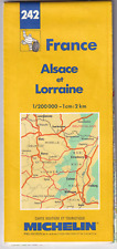 MICHELIN MAP OF FRANCE: ALSACE and LORRAINE