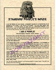 Rules In A Standard Poodle's House
