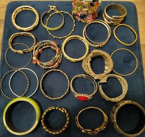 Mixed Costume Jewellery Bundle Job Lot Vintage and Modern Bracelets Bangles