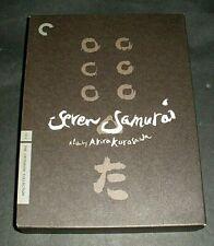 Seven Samurai (1954) 3 Dvd Criterion Collection