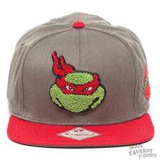 Teenage Mutant Ninja Turtles Raphael Fuzzy Licesned Gray Snapback Cap Hat