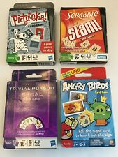 Scrabble Slam, Pictureka, Trivial Pursuit Steal, Angry Birds Card Game Lot 100%