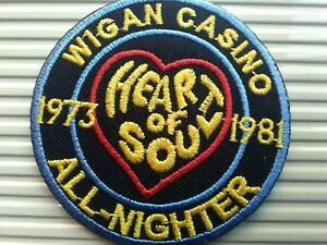 WIGAN CASINO HEART OF SOUL NORTHERN SOUL  SEW OR STICK ON  PATCH