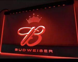 Budweiser King Beer Bar Pub Club   LED Neon Light Sign   home decor  crafts
