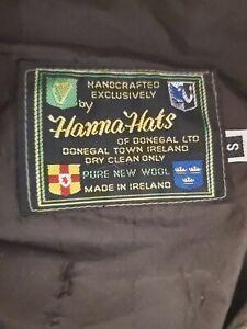 VTG Hanna Hats Men's Irish Donegal Wool Hat Patchwork Newsie Small Golfing