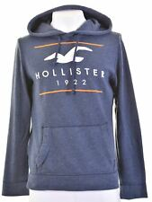 HOLLISTER Mens Hoodie Jumper Small Blue Cotton  HF05