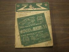 Original Ford 1954 Lincoln Mercury Service Bulletin Book Shop Manual