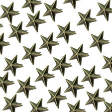 100 Pcs Metallic Star Studs Punk Rock DIY Leathercraft Clothes Shoes Accessory