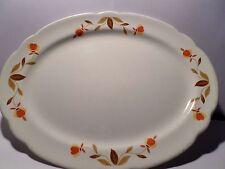 """Hall Autumn Leaf Jewel Tea Oval Platter. 11 1/2 x 8 1/2"""""""