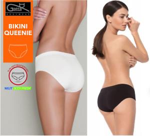 Gatta Sport String Seamless Tanga Panty antibakteriell schwarz weiß haut Gr.S-XL