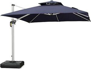 PURPLE LEAF 10ft Patio Umbrella Outdoor Square Umbrella Large Umbrella