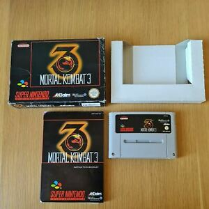 MORTAL KOMBAT 3 SUPER NINTENDO SNES PAL GAME BOXED COMPLETE WITH MANUAL FREE P&P
