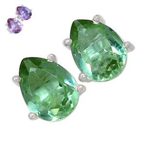 Colorchange Alexandrite (Lab.) 925 Silver Earrings - Stud Jewelry BE56726