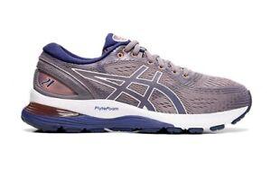 ASICS GEL-NIMBUS 21 Women's Running Shoes Lavender Gray Gym NWT 111930203-500