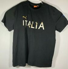 Puma Sport Lifestyle Mens T Shirt Black Italia Patch On Arm Mens Size XL EUC