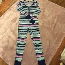 Victoria's Secret Size S Fairy Isle One piece thermal long Janes Johns Pajamas