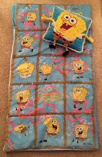 Spongebob Squarepants Kids Sleeping Bag and Pillow GUC 2001