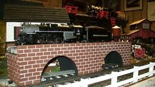 "RAILROAD BRIDGE For Model Train Layouts - 24"" Long O gauge / S Scale"