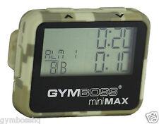Gymboss INTERVAL temporizador & Cronómetro Camuflaje Minimax Bronceado softcoat nave FR UK