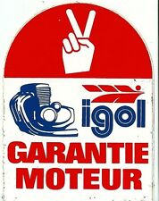 Autocollant sticker IGOL garantie moteur borne automobile car