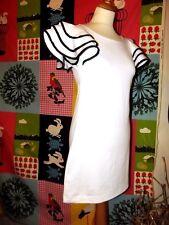 INTERNACIONALE ROBE DRESS MI SAISON  MANCHES COROLLE VOLANTS T UK 8 OU 36