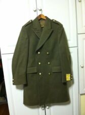 Beatiful Vintage New With Tags 38 Belgium Kakhi Army Jacket Coat Gold Buttons