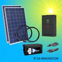 500Watt Solaranlage Komplettpaket 0,5KW Solar Hybrid Hausnetzeinspeisung Effekta