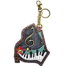 Chala Musical Piano Key Board Key Chain Coin Purse Leather Bag Fob Charm New
