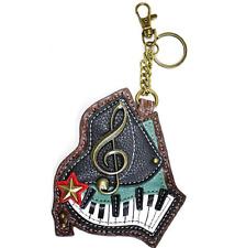 Chala Musical Piano Key Board Key Chain Coin Purse Leather Bag Fob Charm New