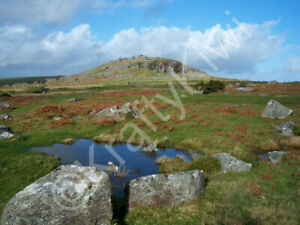 Cheesewring Bodmin Moor Cornwall Photo Art Print Canvas (UK)