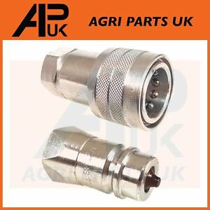 """PAIR Hydraulic Quick Release Coupling 1/2"""" BSP Set Tractor Loader Male & Female"""
