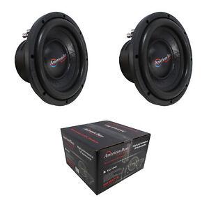 "2 x 10"" Subwoofer 1200W 2"" 4 Ohm DVC Pro Car Audio American Bass XO-1044"