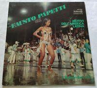 FAUSTO PAPETTI LP I REMEMBER 5 33 GIRI VINYL 1969 ITALY DURIUM MS Al 77216 NM/NM