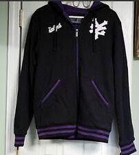 Zoo York Men Full-Zip Hoodie Jacket Full Sherpa Lining Purple & Black Large New