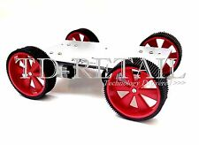BO ROBOT KIT-4WD includes- Motors, Chassis, Clamps, Wheels, Screws, Nuts&Bolts..