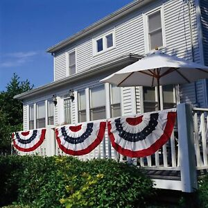 Patriotic Bunting 4th of July Outdoor Décor for Porch Patio US Flag Party Banner