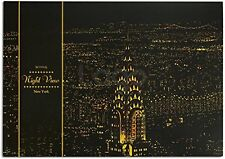 "Lago Scratch Paper Night View Map 16"" x 11"" w/ Wood Pen - New York"
