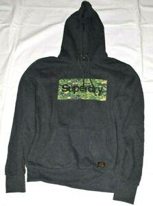 Superdry Machined Goods Mens Hoodie Hooded Sweatshirt Size XL New