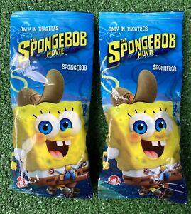 2 Wendys The SpongeBob Movie SpongeBob Keychains Backpack Clips NEW