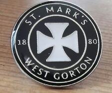 Manchester City Badge St Mark,s West Gorton Pin Football Badge 20mm UK Seller