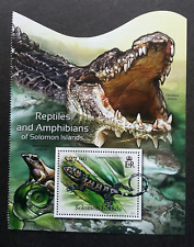 Solomon Islands Reptiles And Amphibians 2012 Lizard Crocodile Frog (ms) MNH *odd